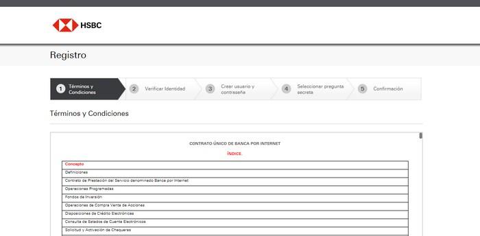 registro en la banca online