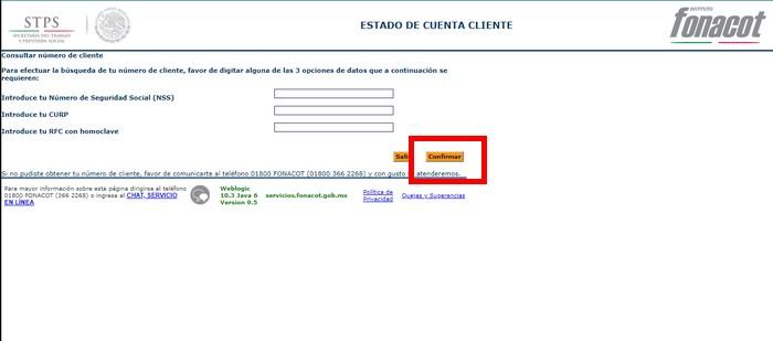 consultar número de cliente